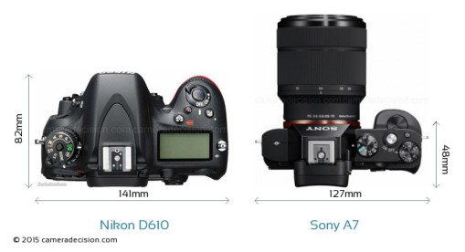 Nikon-D610-vs-Sony-Alpha-7-top-view-size-comparison
